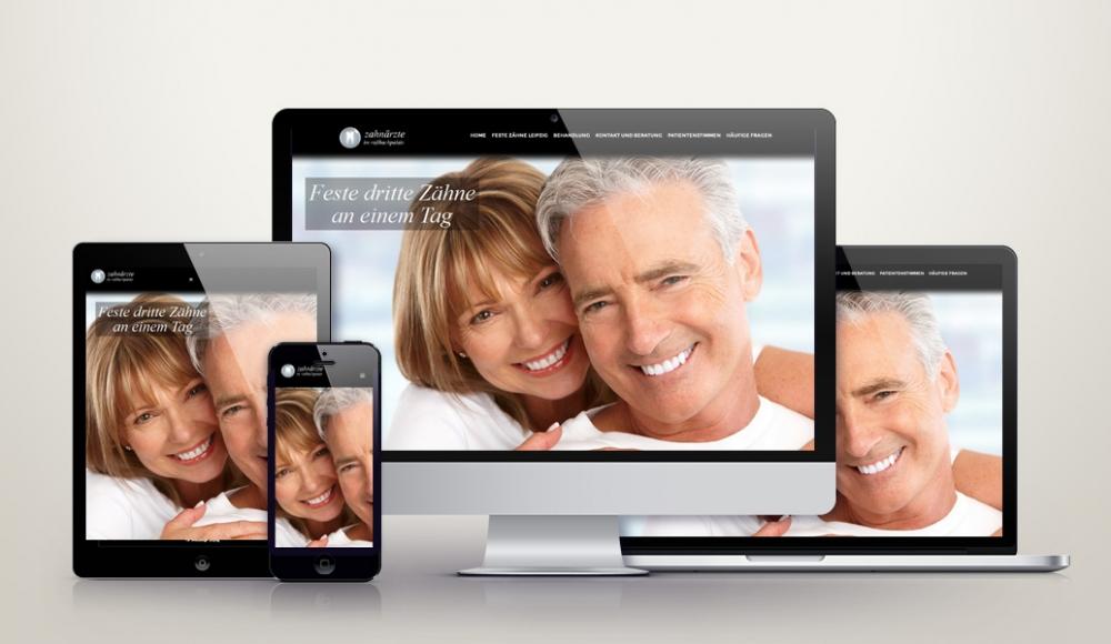 Responsive Wordpress Webdesign für feste-zaehne-leipzig.de